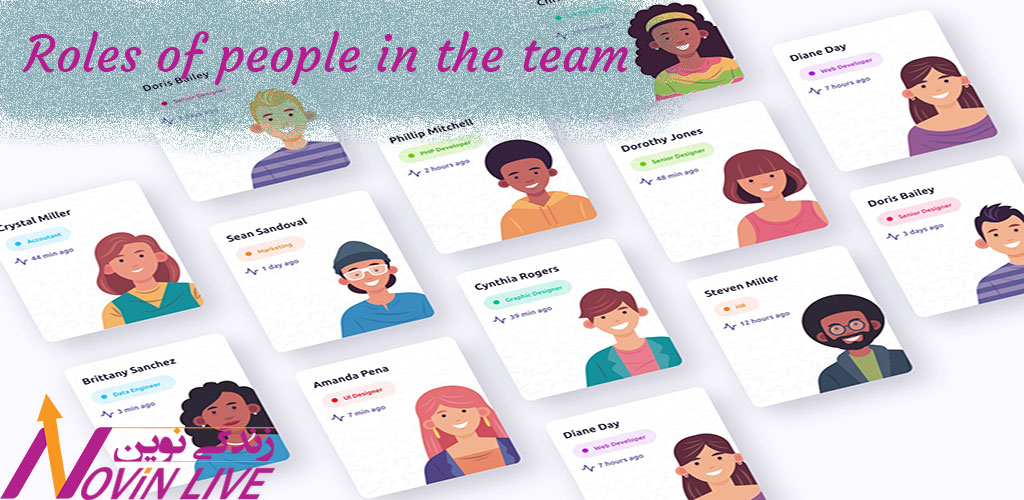 نقش های افراد در تیم