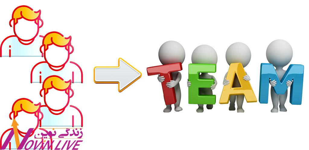 تبدیل افراد به عضو تیم
